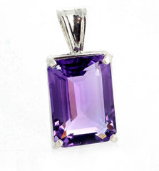 Glorious Pinky Purple 15.7 Amethyst Sterling Silver Pendant