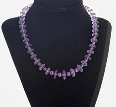 Unique Rose of France Amethyst necklace