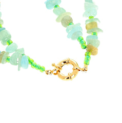 Aquamarine Double Strand Necklace