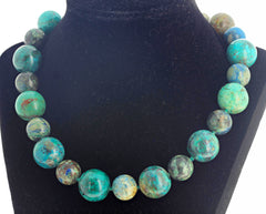 Unique Amazing Natural Chrysocolla Necklace
