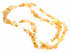 Unique Double Strand Citrine Necklace