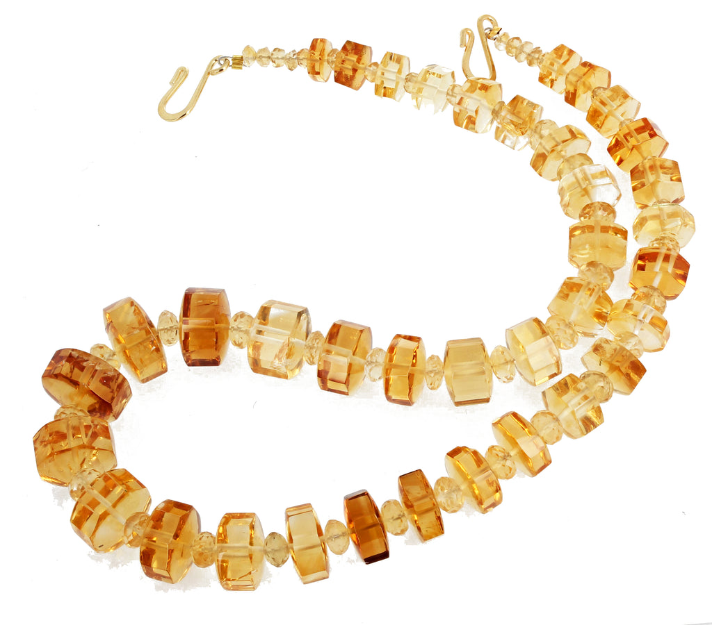 280 Carat Citrine and Citrine Necklace
