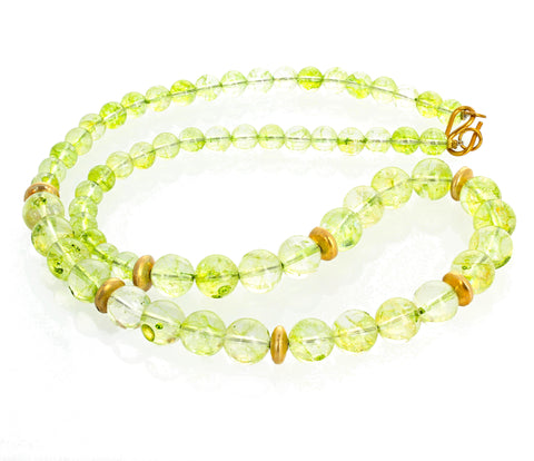 Unique Green Quartz Necklace