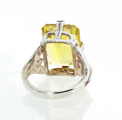 10 Carat Natural Champagne Quartz Sterling Silver Ring