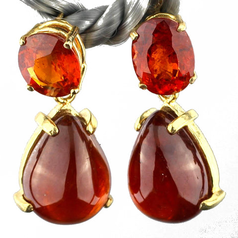 Splendid Spessertite & Spessertite Earrings