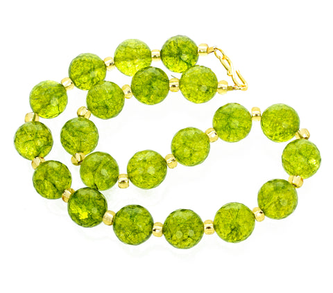 Unique Handmade Glittering Peridot Necklace