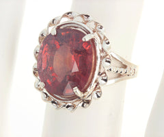 15.9 Carat Red Sapphire Sterling Silver Ring