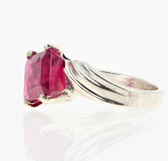 Rubelite Tourmaline Sterling Silver Ring