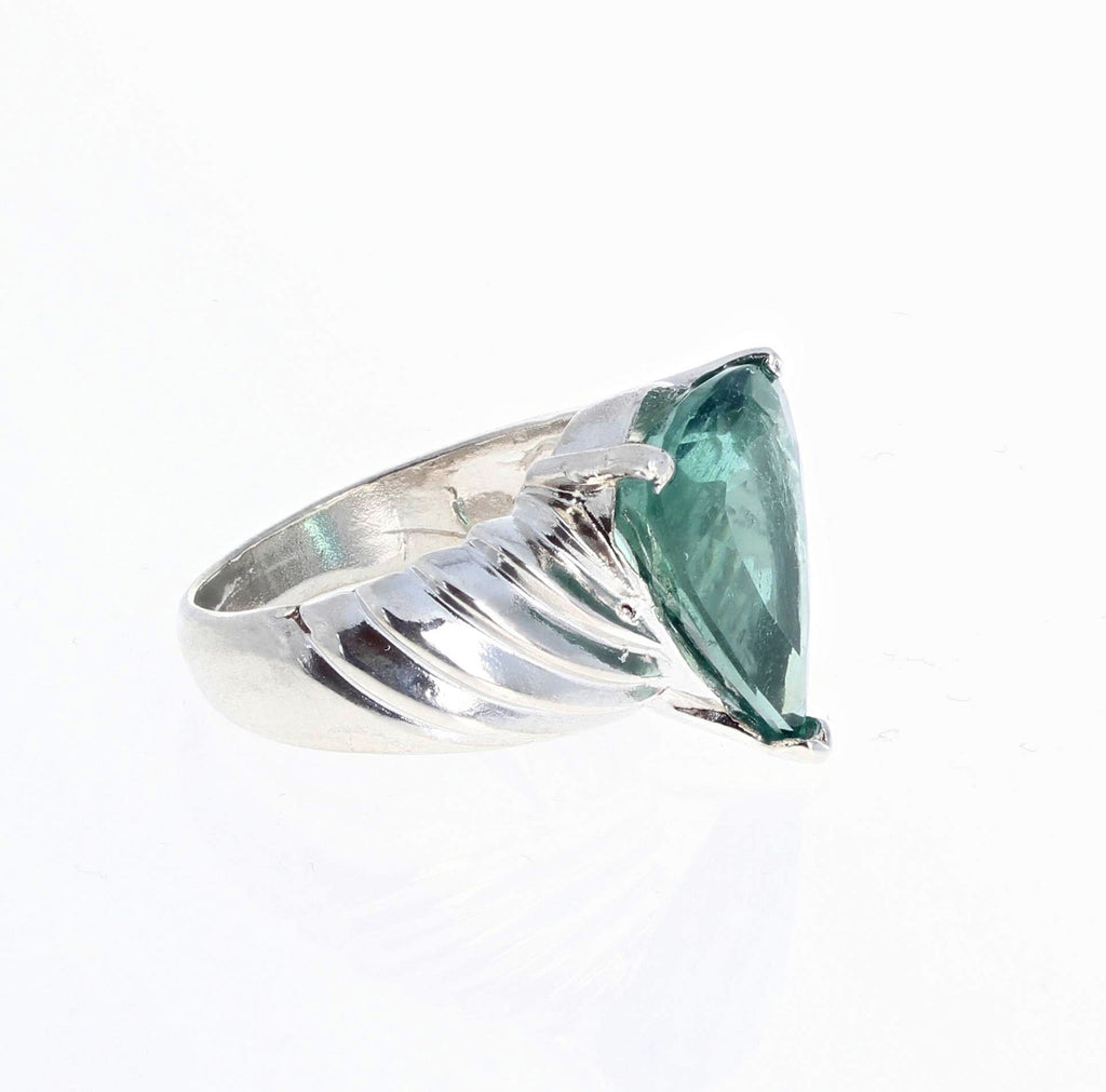 Green Tourmaline Sterling Silver Ring