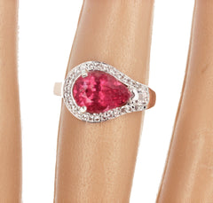 2.86 Carat Tourmaline and White Diamond Ring