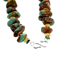 Unique Turquoise and Turquoise and Citrine Necklace