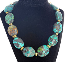 Splendid Chinese Multi-Color Turquoise Necklace