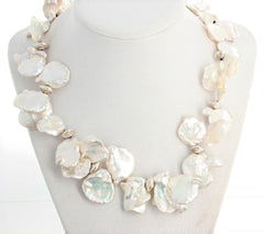 Huge Dramatic Flippy Floppy Keshi Pearls Necklace