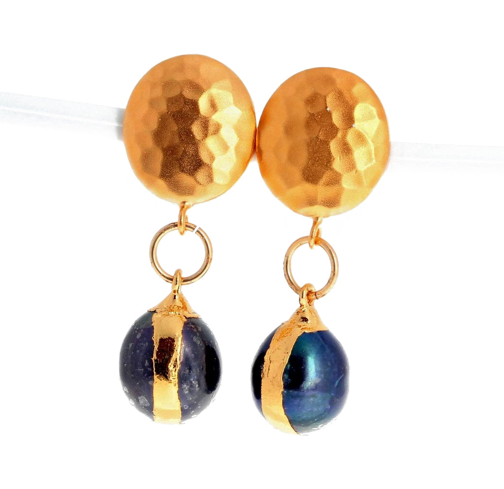 Fireball Pearls Vermeil Clip-on Earrings