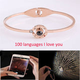 "Bracelet ""I Love You"" en 100 langues , offre de Noël à -50%"