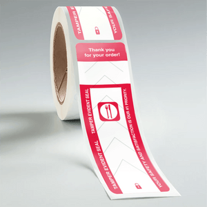 Stock Rectangle Tamper Evident Food Labels