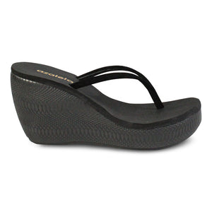 Azaleia Thong Wedge Slide Sandals