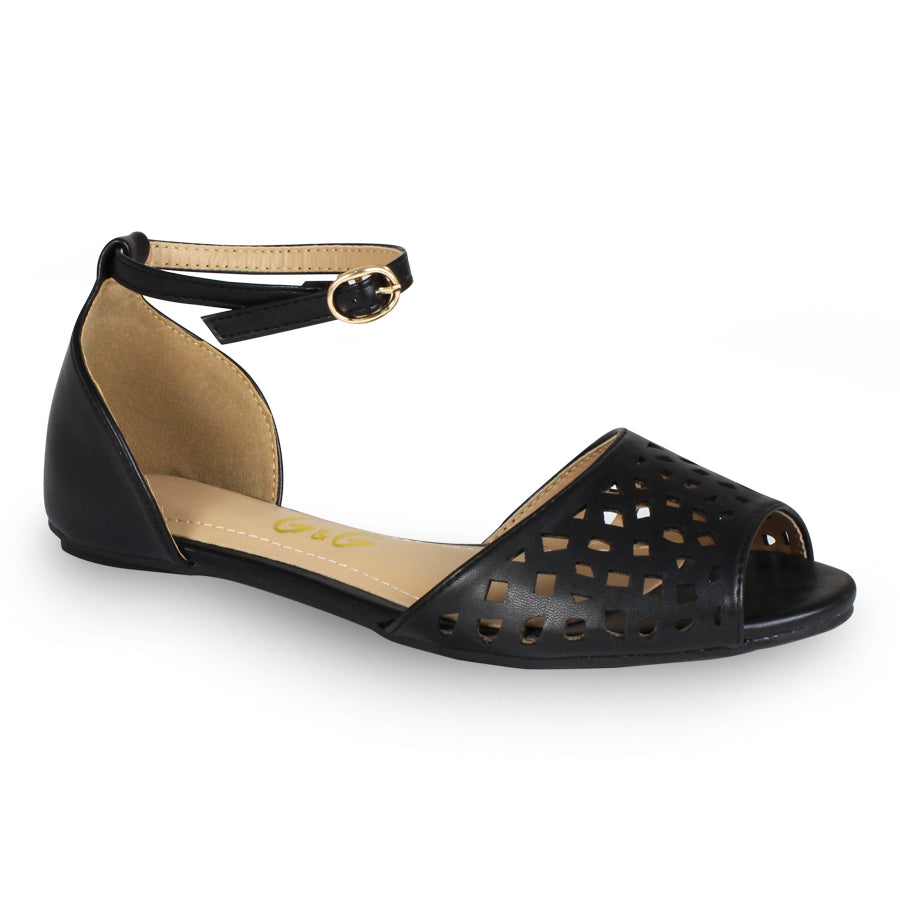 G&G Perforated Flat Sandals