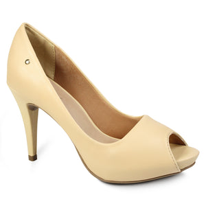 Peep Toe High Heel Pumps
