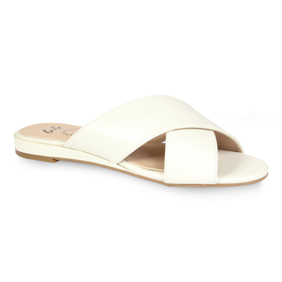 G&G Cross Strap Flat Sandals