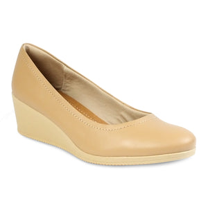 Usaflex Almond Toe Wedge Pumps