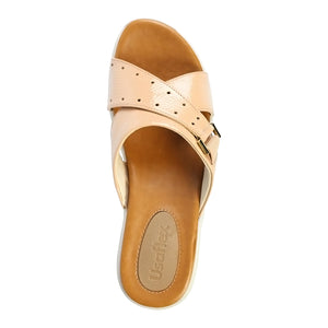 Usaflex Cross Strap Wedge Sandals