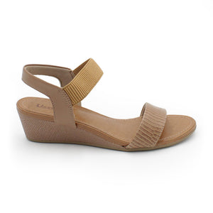 Usaflex Elastic Wedge Sandals