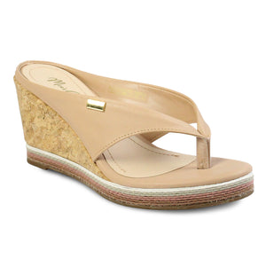 Mia's Closet Thong Wedge Slide Sandals