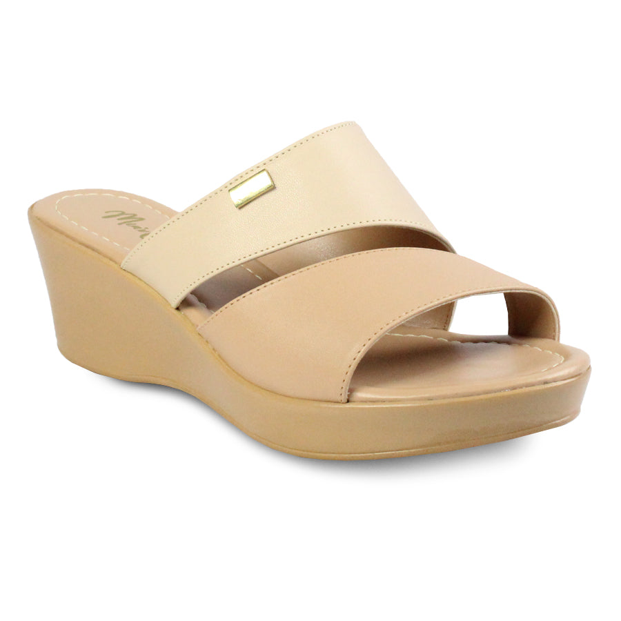 Mia's Closet Slip-On Wedge Slide Sandals