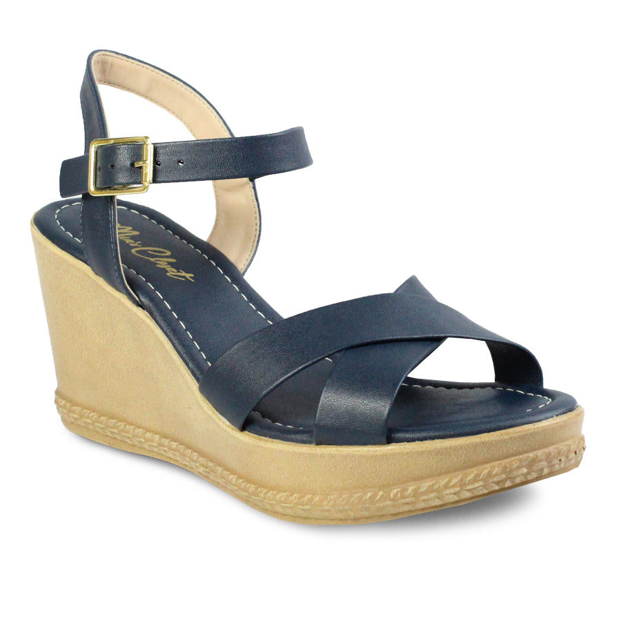 Mia's Closet Ankle Strap Wedge Sandals