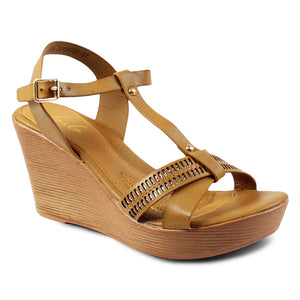 G&G T-Strap Wedge Sandals