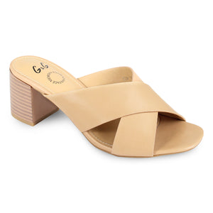 G&G Cross Strap Heel Slide Sandals