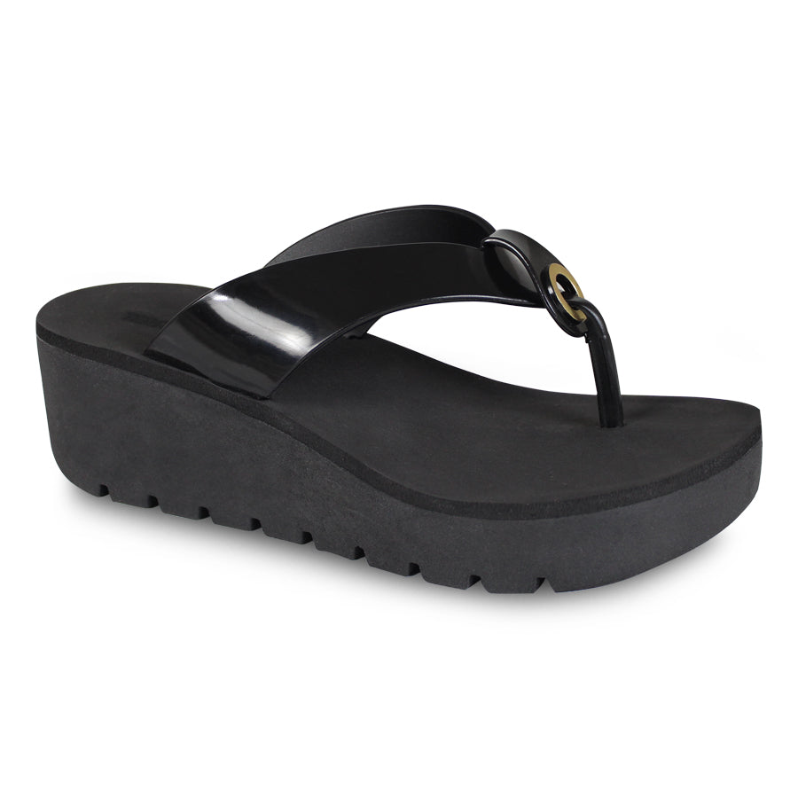 12699b0407f7 Thong Wedge Sandals - G G ─ Shoes   Bags