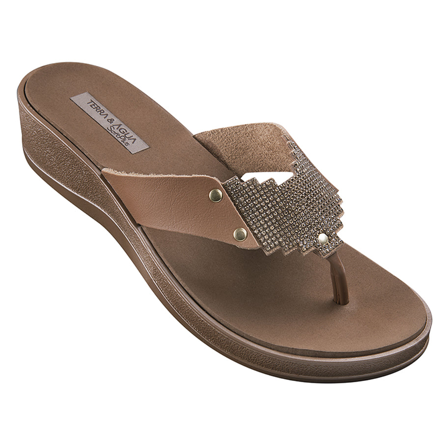 Terra & Agua Thong Wedge Sandals