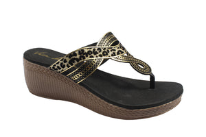G&G Thong Wedge Sandals