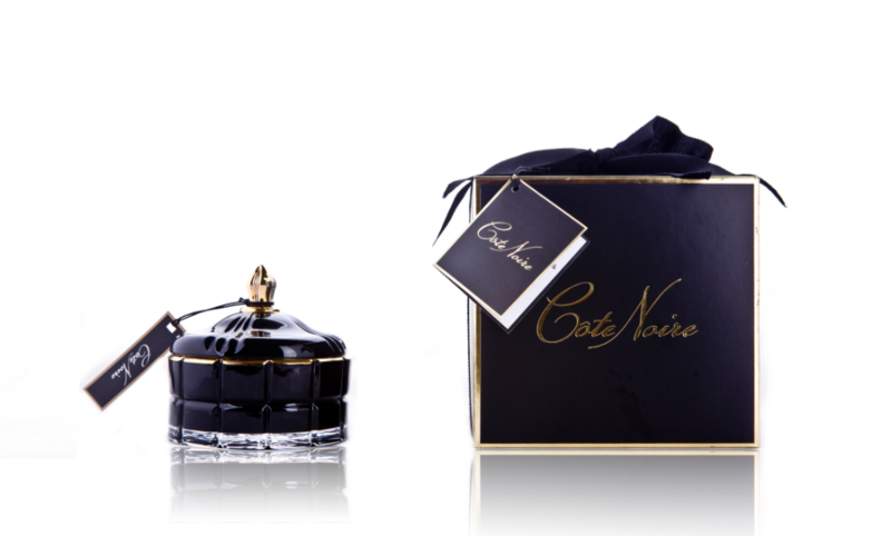COTE NOIR Art Deco Black Candle