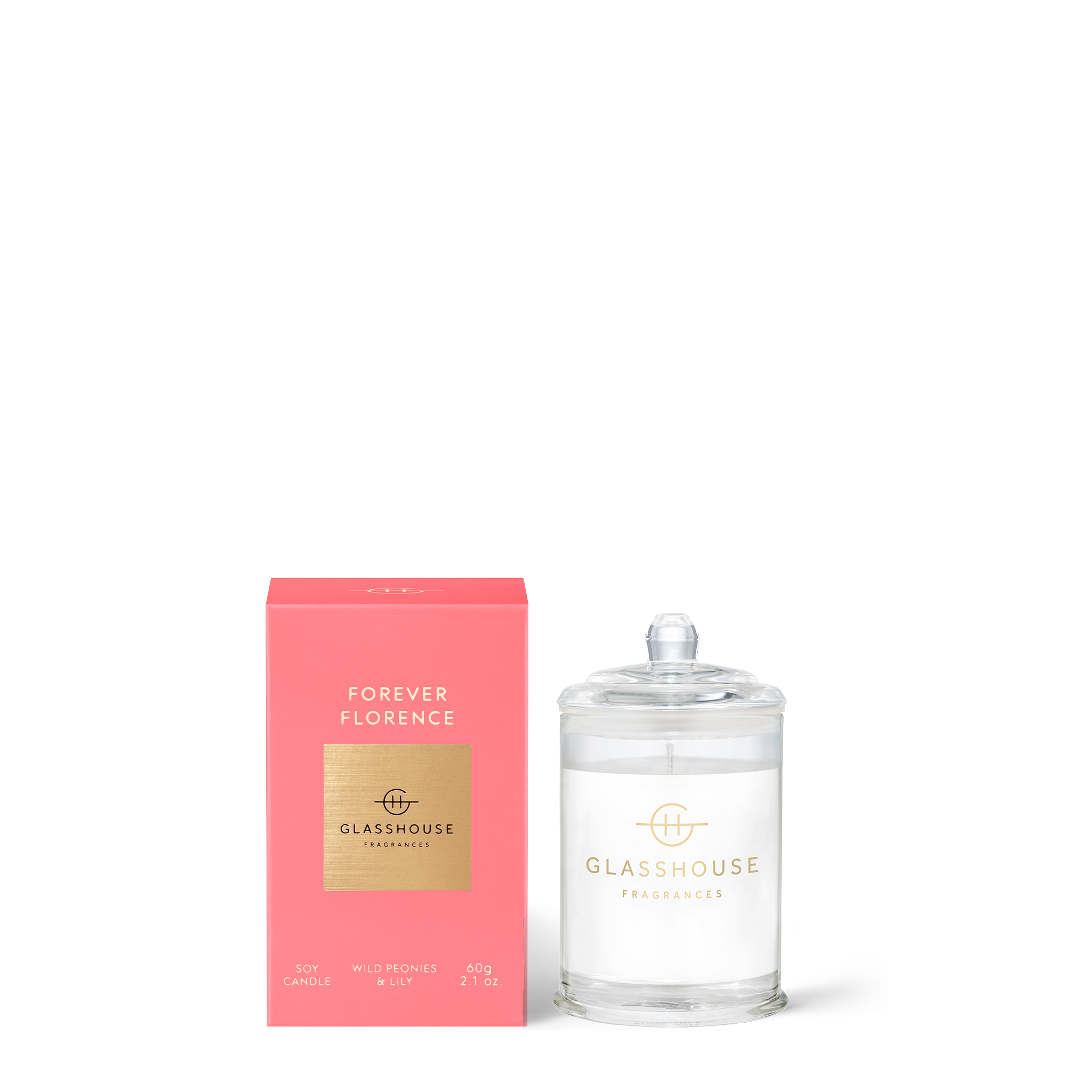 GLASSHOUSE FRAGRANCES Forever Florence 60g Candle
