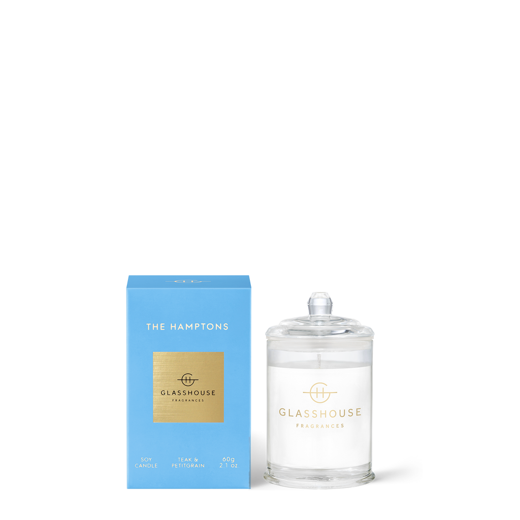 GLASSHOUSE FRAGRANCES The Hamptons 60g Candle