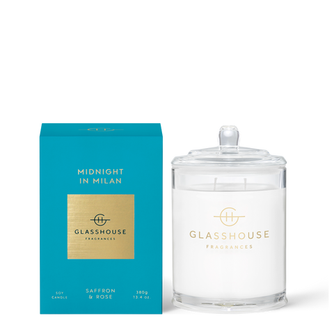 GLASSHOUSE FRAGRANCES Midnight In Milan 380g Candle