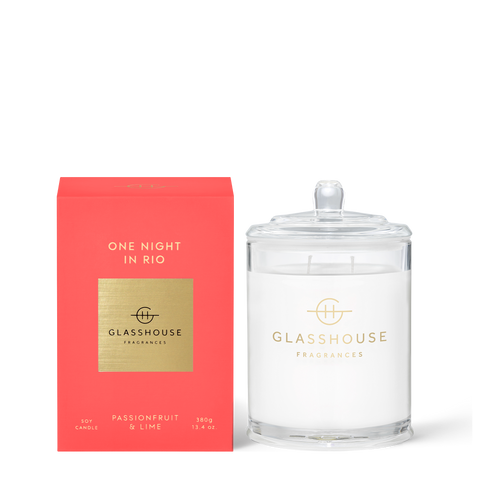 GLASSHOUSE FRAGRANCES One Night in Rio 380g Candle