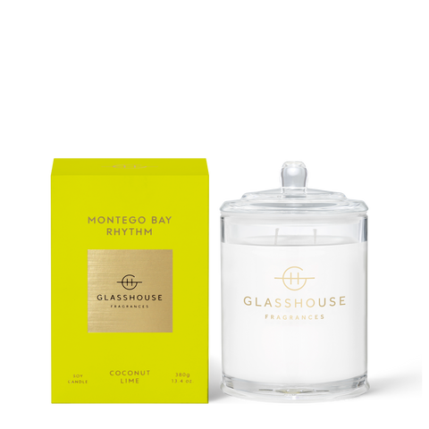 GLASSHOUSE FRAGRANCES Montego Rhythm 380g Candle
