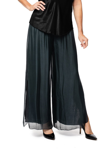 MIRRA MIRRA Charcoal Silk Pants