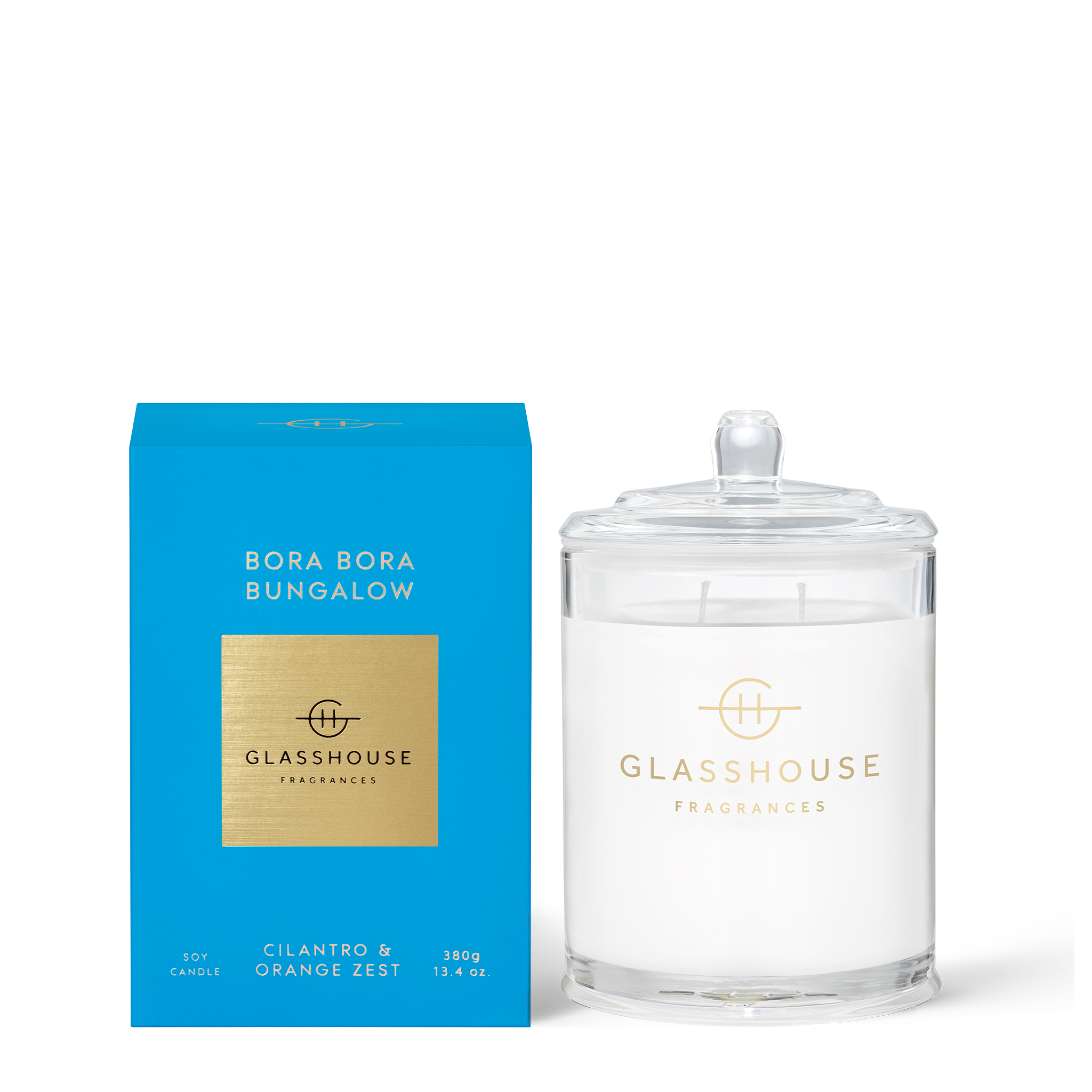 GLASSHOUSE FRAGRANCES Bora Bora Bungalow 380g Candle