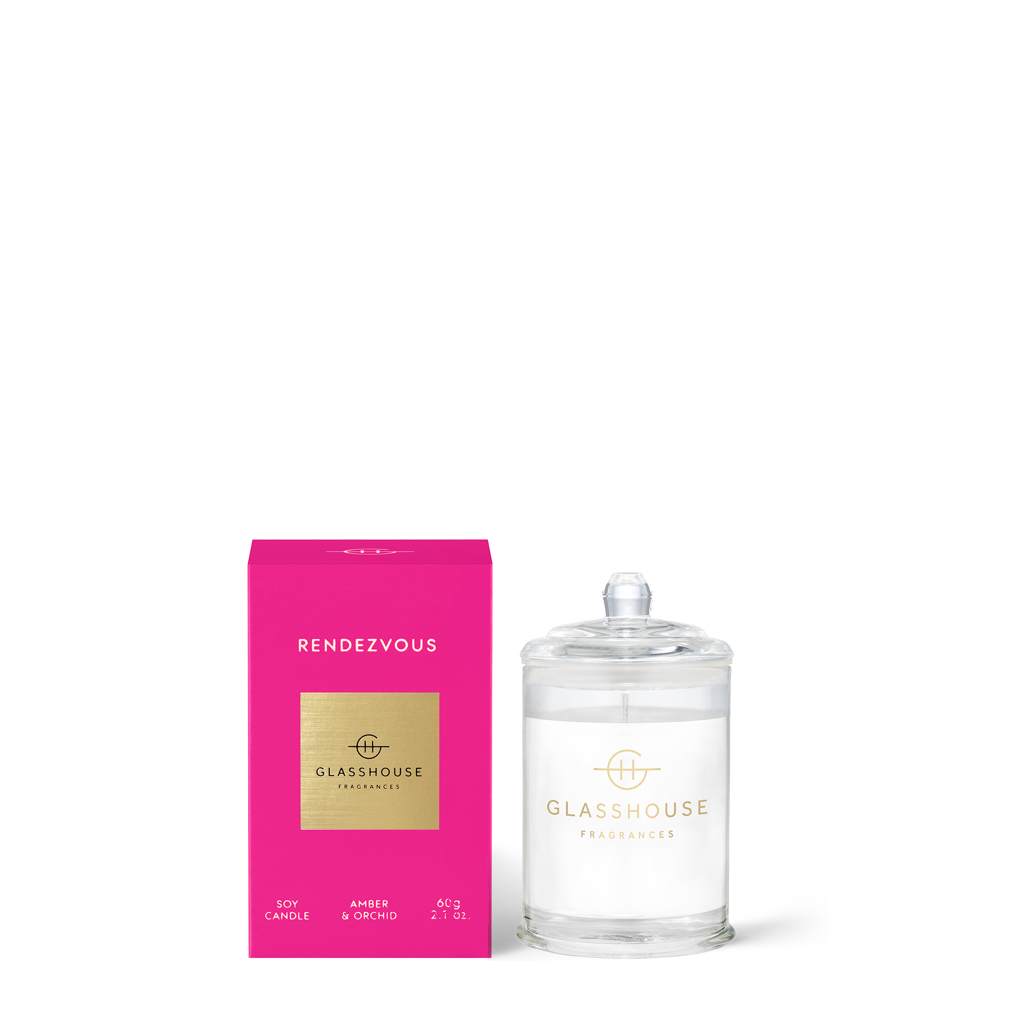 GLASSHOUSE FRAGRANCES Rendezvous 60g Candle