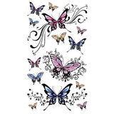 Faux tatouages papillons pour femme couleur papillon tatouage éphémère tatouages temporaire faux tatoo fake autocollant temporary tattoo ephemere