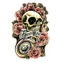 Tatouage ephemere tête de mort freedom of death tatoo tatouage temporaire faux tatouages tattoo-ephemere