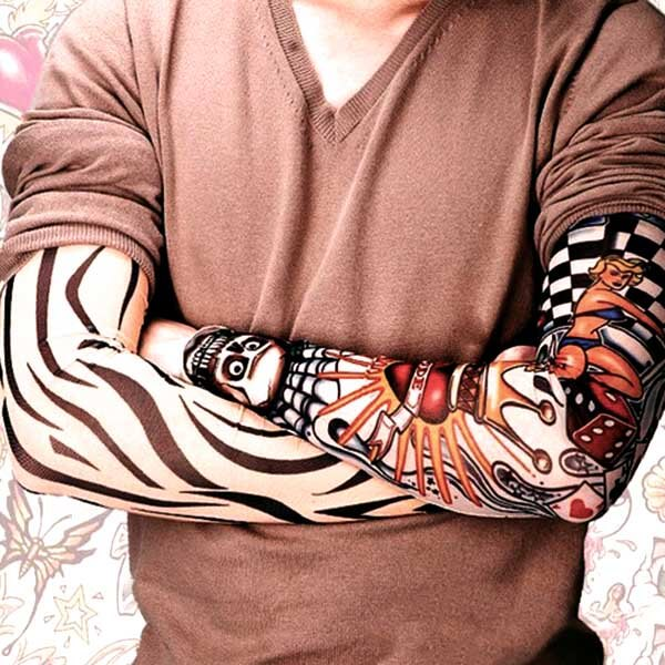 manchette sleeves tattoo ephemere tatouage temporaire faux tatouage