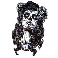 tatoo ephemere femme calavera tête de mort calavera mexicaine tatouage temporaire faux tatouage tatoo Tattoo-Ephemere