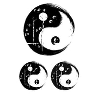 Tatouages ephemeres Yin et Yang tatouage temporaire faux tatoo fake autocollant chine zen yoga fake temporary tattoo ephemere
