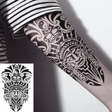Tatouage éphémère Maori pour homme tatouage temporaire faux tatoo fake autocollant tribal noir totem indien amérindien temporary tattoo ephemere